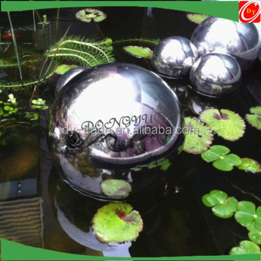 Stainless steel hollow sphere /ball floating on the water