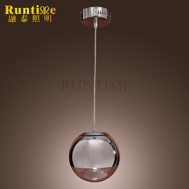 <strong>Modern</strong> 60W Pendant Light in Globe Metal Shape Mini Style Ceiling Light Fixture for Kitchen Dining Room