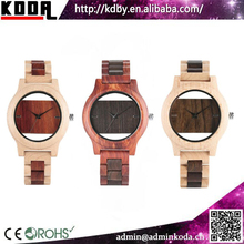japan movement watch time two tone wooden watches