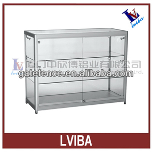 aluminium showcase and aluminium frame glass showcase & display showcase