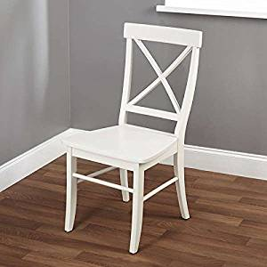 Get Quotations Desk Chairs Dining Chair Simple Living Easton Antique White Cross Back 1516227