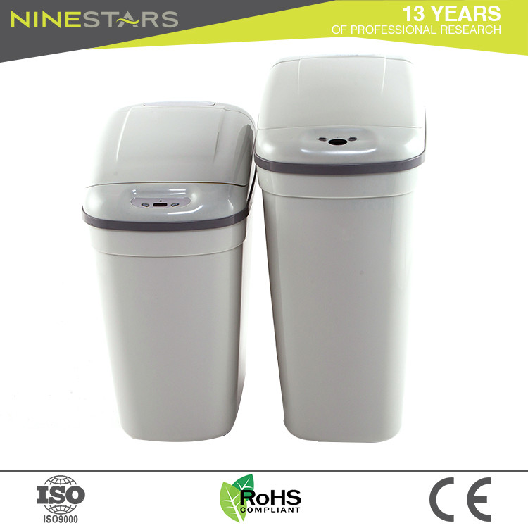 Nine stars manufacture plastic kitchen auto open trash can with lid