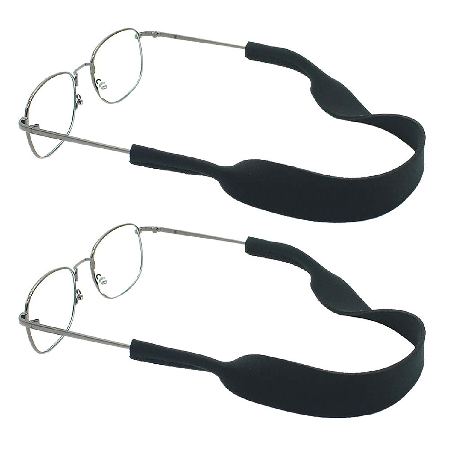 77dd9ae76ff Get Quotations · Darller 2 Pcs Sport Eyewear Retainer Adjustable Unisex  Sunglass and Glasses Holder Retainer Straps