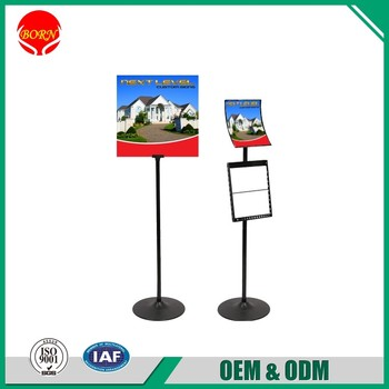 flat steel standing pole professional stand for poster board buy