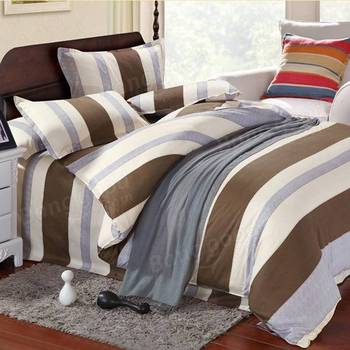 China wholesale Twin Full Queen King Size Satin Striped bed Sheets bed set
