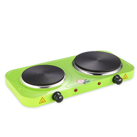 hot sale factory 2500W electric hot plate cooker double stove for sale