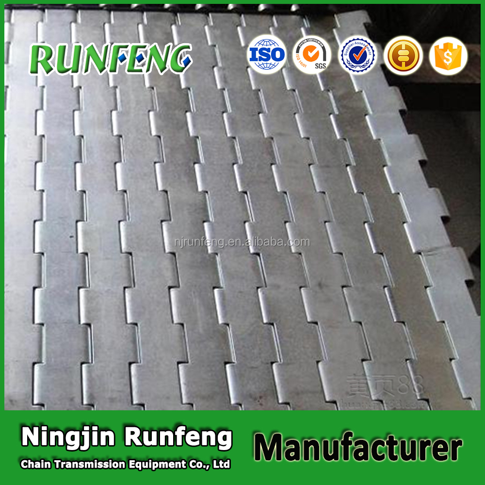 Manufacturer metal chain drive band belt conveyor stainless steel conveyor plate
