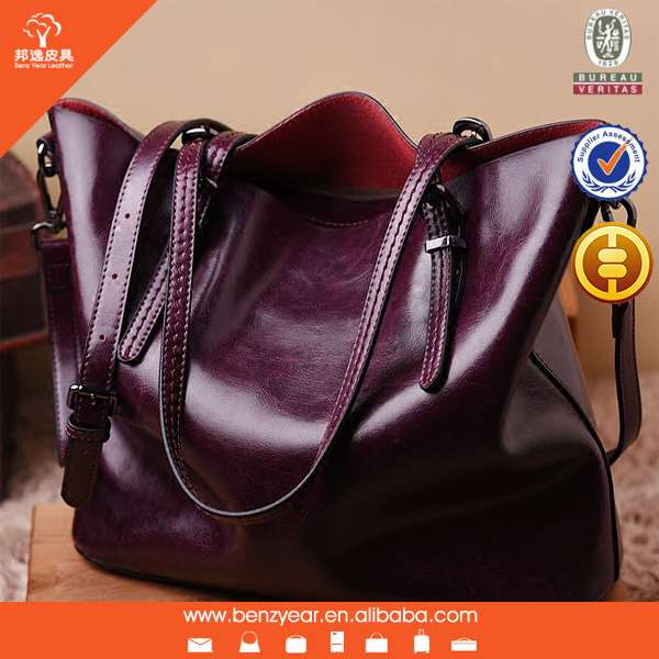 latest oil waxed leather handbag shoulder leather handbag for women shipping