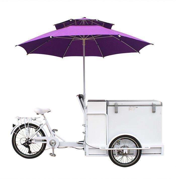 2017 Desain Baru 3 Roda Bermotor Listrik Kargo Sepeda Es Krim