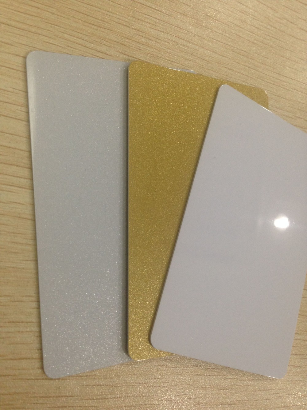 Blank Magnetic Strip Card Gold/Silver/White Card