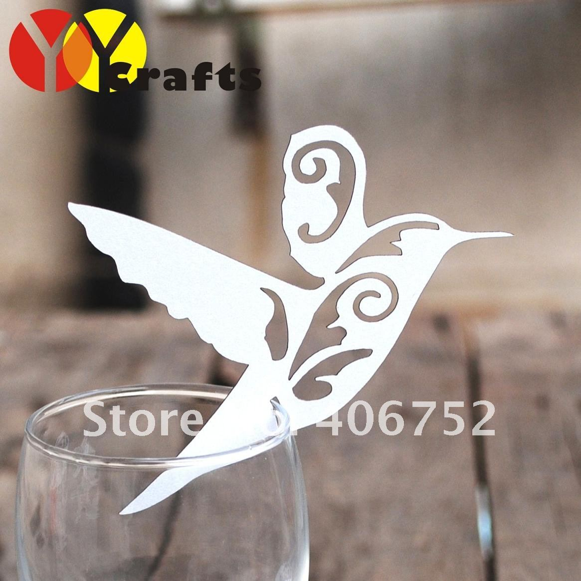2015 yoyocraft Laser cutting bird shape place card holder