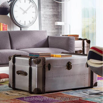 Latest Design Aluminum Covered Storage Box Truck Coffee Table Tea