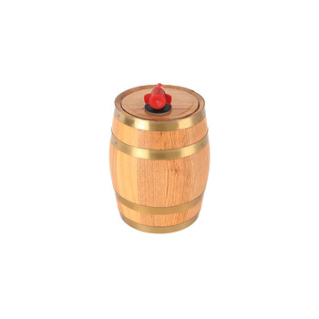 Custom 3l Oak Wine Barrel With Golden Steel Hoops For Aging Buy