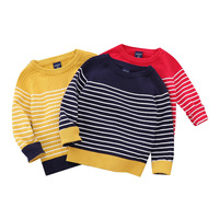 Children's clothing boys striped sweater autumn and winter Kid's sweater