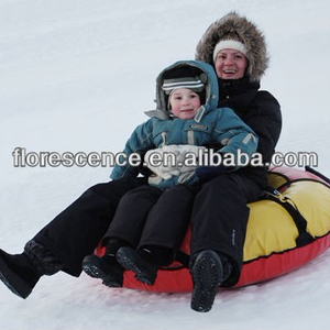 Florescence outdoor sports snow sled tubes river inner tube 100cm for adult