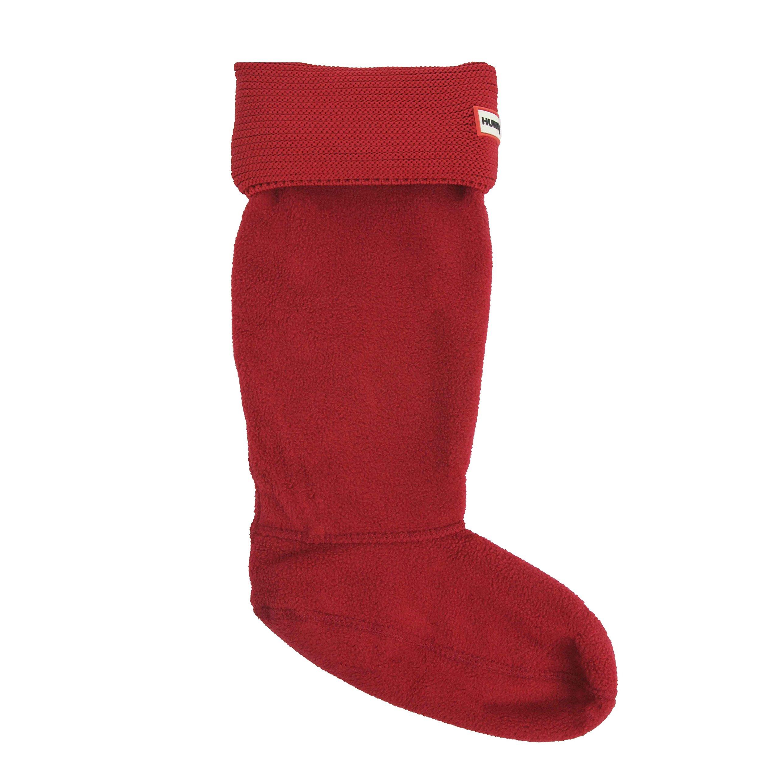 Hunter Women's Garter Stitch Cuff Boot Socks