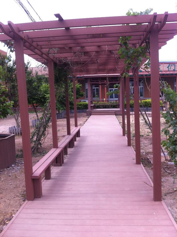 P rgolas compuesto de madera pl stica impermeable arcos emparrados p rgolas y puente - Pergola impermeable ...
