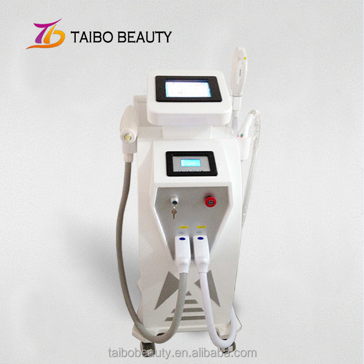 E-light+RF+ Nd yag laser 3 in 1 multi beauty device/E-light SHR hair removal/Micro needle rf+ 1064nm 532 nm nd yag laser
