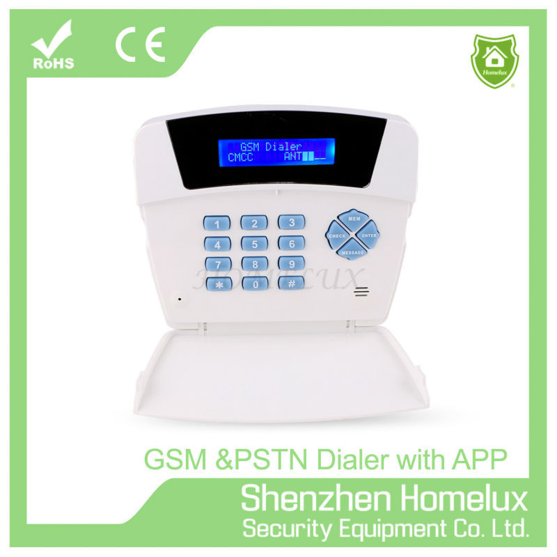 GSM Auto Dialer With Wireless Security Alarm System SMS notification with APP control