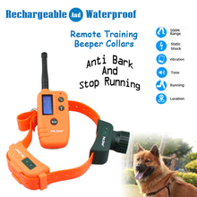 Waterproof Shock Collar Remote Dog Training Collar for Anti Bark and Stop Running