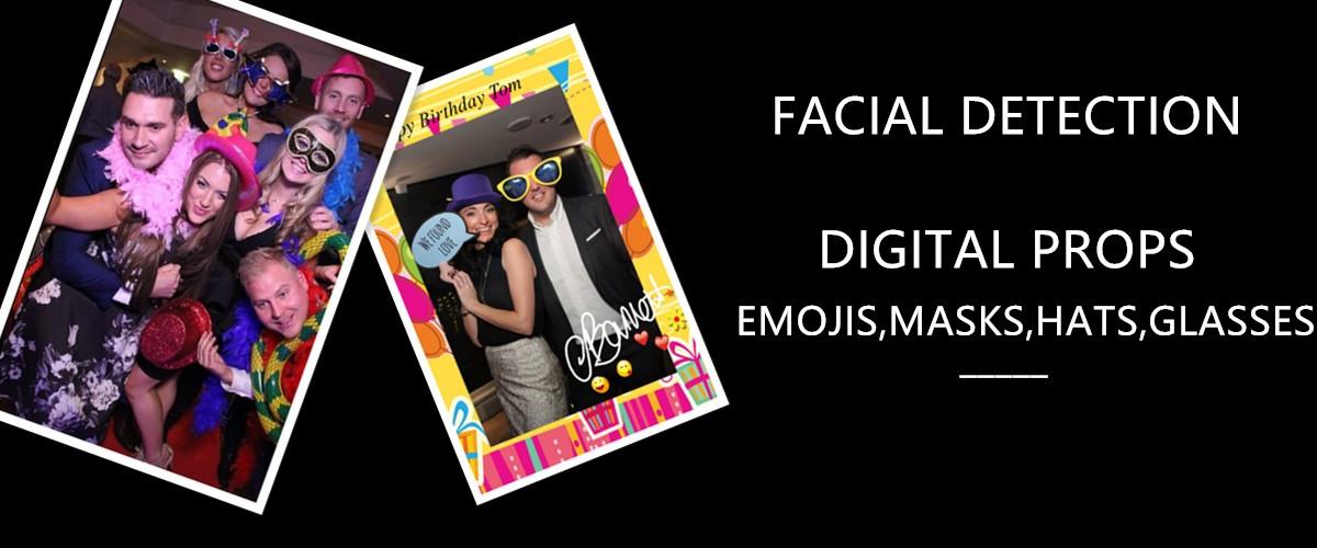 52 inç Parti Taşınabilir Sihirli Selfie Ayna fotoğraf kabini Makinesi Kiosk LCD Zemin Standı Dijital Tabela