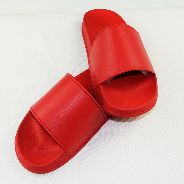 Оптовая продажа из Китая простые пользовательские сандалии слайд, логотип ПВХ слайд сандалии тапочки красный слайд сандалии для мужчин