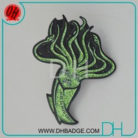 Cheap metal marine animal OCTOPUS enamel glitter pin made by pin making machine