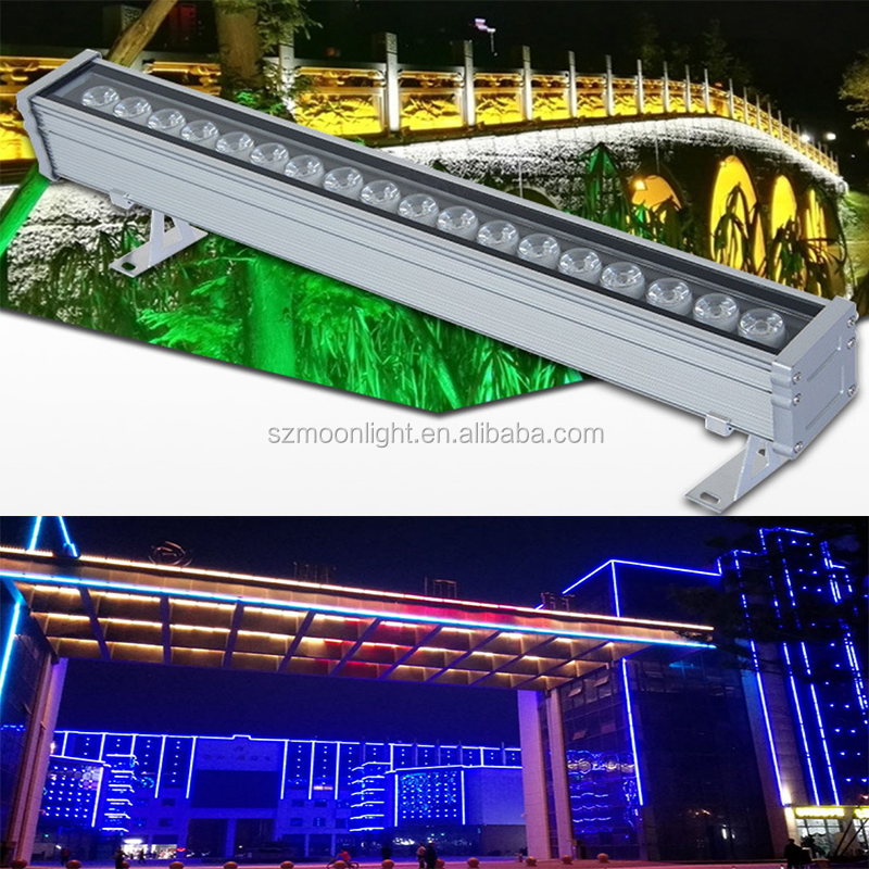 Wall washer building media facade architectural lighting DC24v led pixel tube 30W
