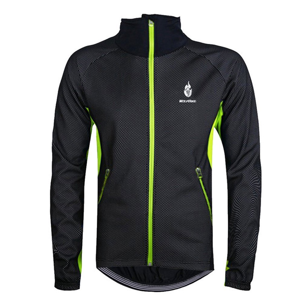 Get Quotations · Ophelia Outdoor Autumn and Winter Warm Fleece Cycling  Jersey Long-sleeved Jacket 953452d45