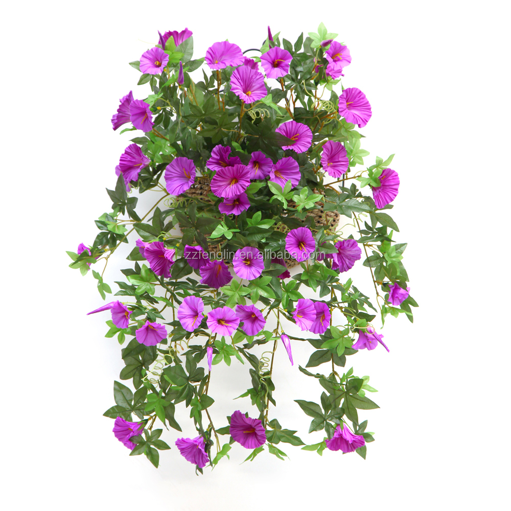 Cheapest Silk Flower Hanging Baskets : Wholesaler outdoor artificial flowers hanging baskets