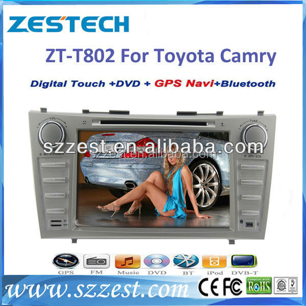 ZESTECH DVD factory 2 Din Touch screen <strong>car</strong> dvd gps navigation system <strong>car</strong> stereo radio audio player for <strong>Toyota</strong> camry 2007 - 2011