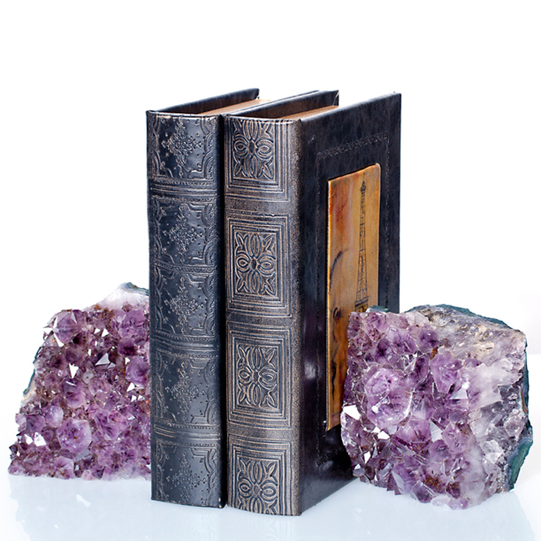 wholesale all sizes of natural stone bookend amethyst geode bookends