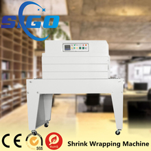 SIGO small hot sale semi automatic heat tunnel shrink wrapping machine
