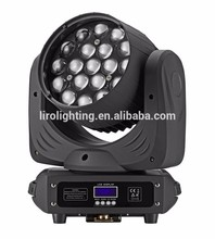 19 x 12w rgbw led beam moving head , LED stage light, wash zoom