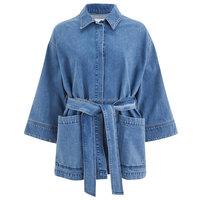 oversize women plain denim jean jacket and blazer