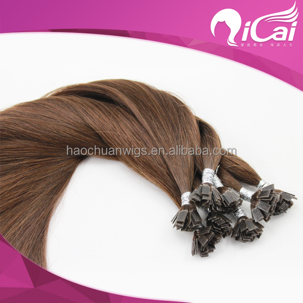 Factory wholesale pre bonded flat tip hair extensions silk straight brazilian virgin remy human hair extension