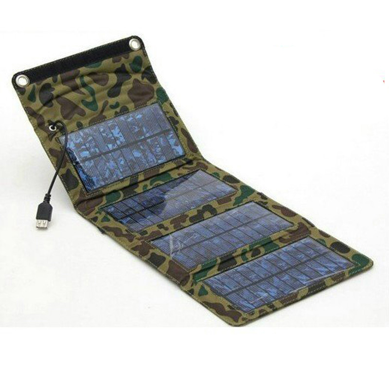 7watt foldable portable solar charger for mobile phone Solar charger bag Solar mobile charger 5V solar cell panel