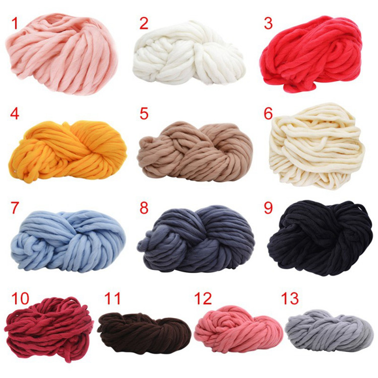 Factory wholesale18-23 micron yarn supplier cheap sales high quality 100% wool roving hand knitting thick yarn with hanks for h