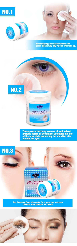 גבי מוכר 30 חתיכות/בקבוק חלבון מסיר רפידות כותנה נקי רפידות עבור סיומות עפעף חזק לא יזיק ניקוי איפור העיניים