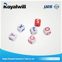 Special 10-sides numbered polyhedral dice set, flat 10 sided dice