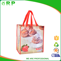 Alibaba hot selling pp non woven shopping with handle lady tote bag