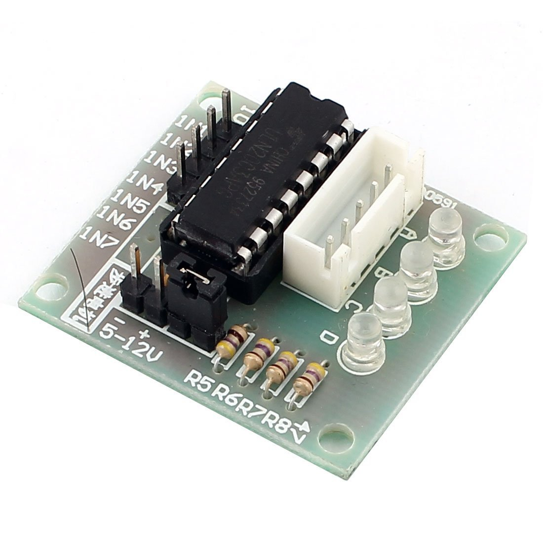 Cheap Motor Driver Schematic Find Deals On L298n H Bridge Diagram Free Download Wiring Diagrams Pictures Get Quotations Uxcell Uln2003 Stepper Board Avr Arm Green Black