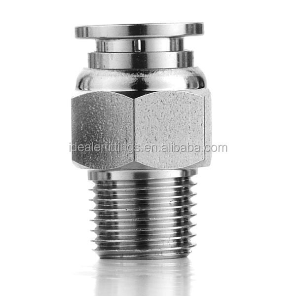 SSPC4-02 Stainless Steel Push to Connect Fittings Male Straight Fittings