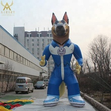 giant inflatable wolf cartoon character