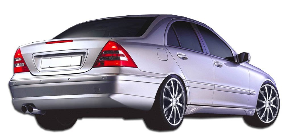 2001-2007 Mercedes C Class W203 Duraflex LR-S 2 Rear Lip Under Spoiler Air Dam - 1 Piece (Overstock)
