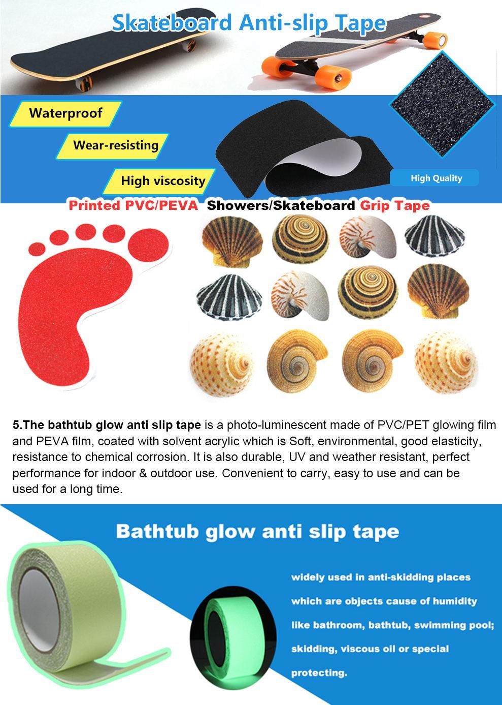 EONBON गर्म बेचने उच्च मात्रा अंधेरे में चमक विरोधी पर्ची टेप