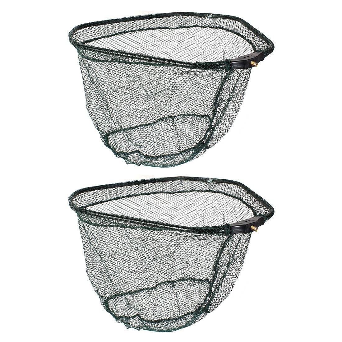 uxcell® 2 Pcs Nylon Mesh Foldable Triangle Shape Fishing Landing Net
