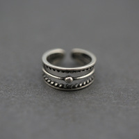 latest 925 sterling silver finger ring designs jewelry Vintage/Retro style Twisted Thai silver adjustable