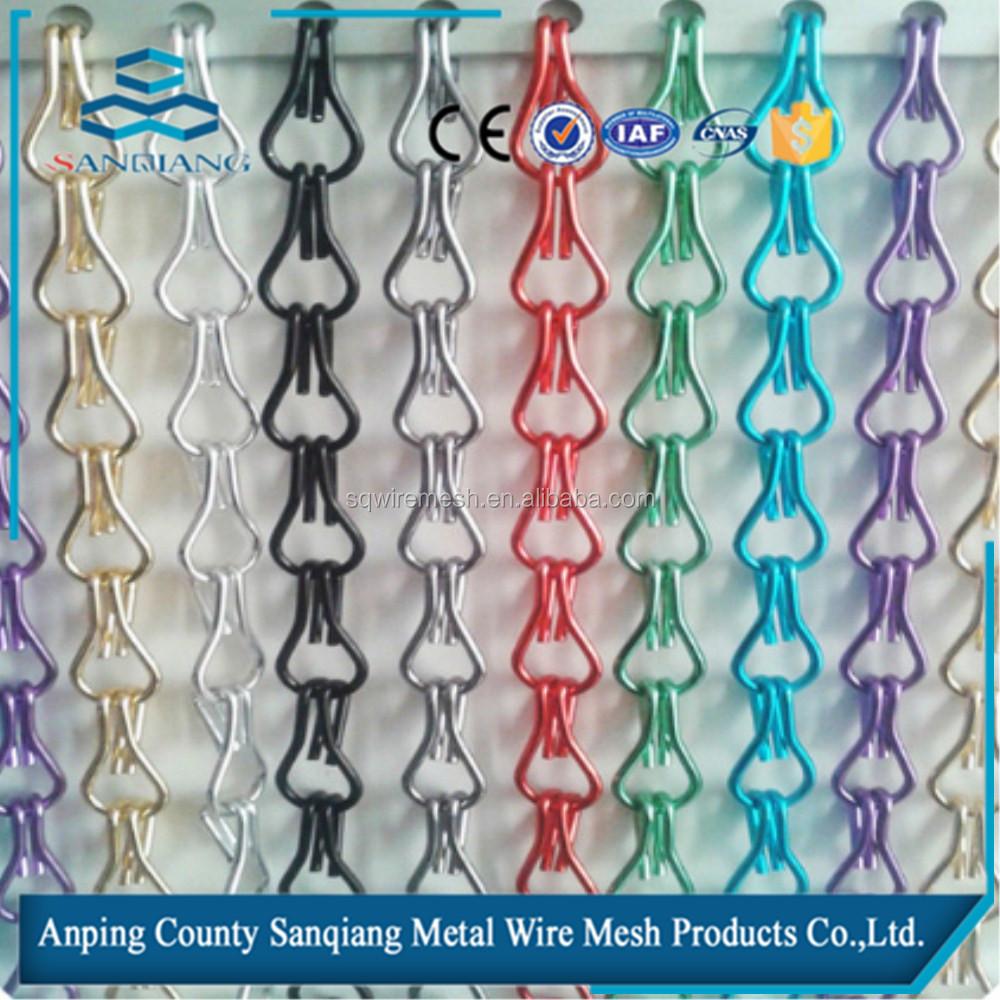 Metal Chain Link Fly Screen Mesh Door Curtain Buy Metal Chain Link