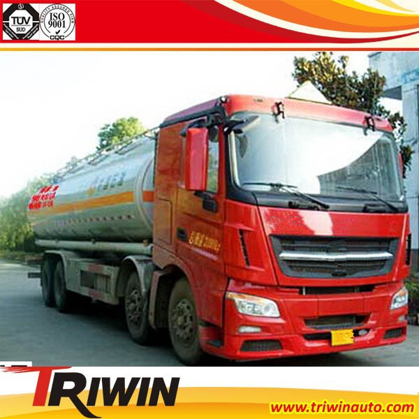factory price sale 300 HP 8x4 EURO 4 25000 litre 20 ton fuel tank truck weight